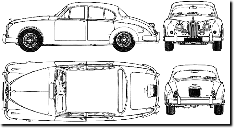 vintage cars blueprints